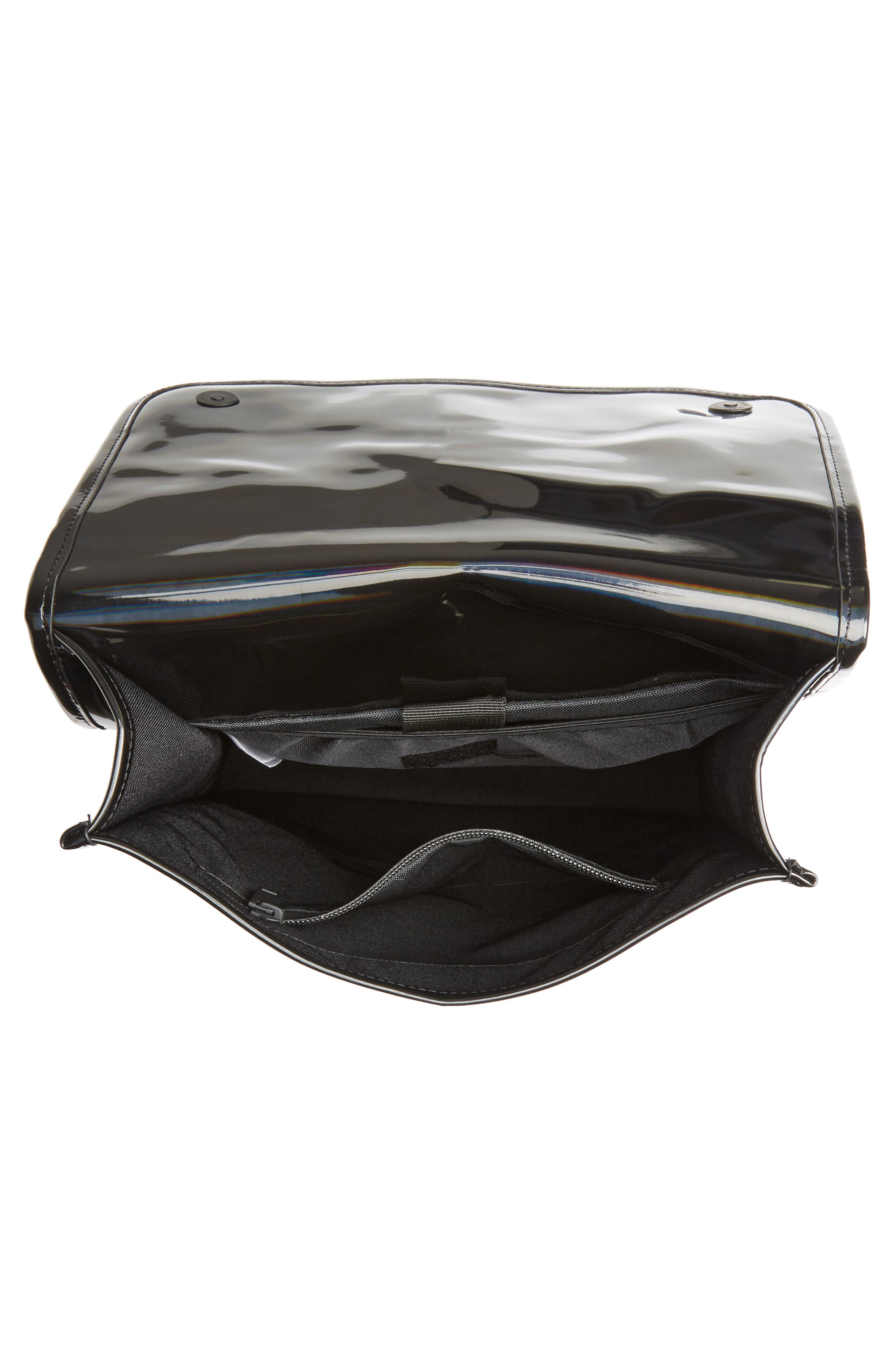 ,                             Mini Waterproof Holographic Backpack,                             Alternate thumbnail 4, color,                             BLACK
