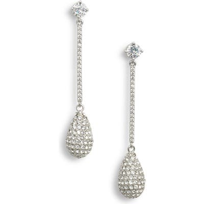 Nina Swarovski Crystal Teardrop Earrings