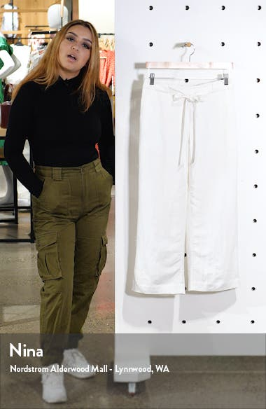 Drawstring Waist Crop Pants, sales video thumbnail
