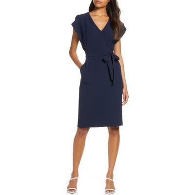 Eliza J Ruffle Sleeve Sheath Dress, 8 (similar to 1) - Blue