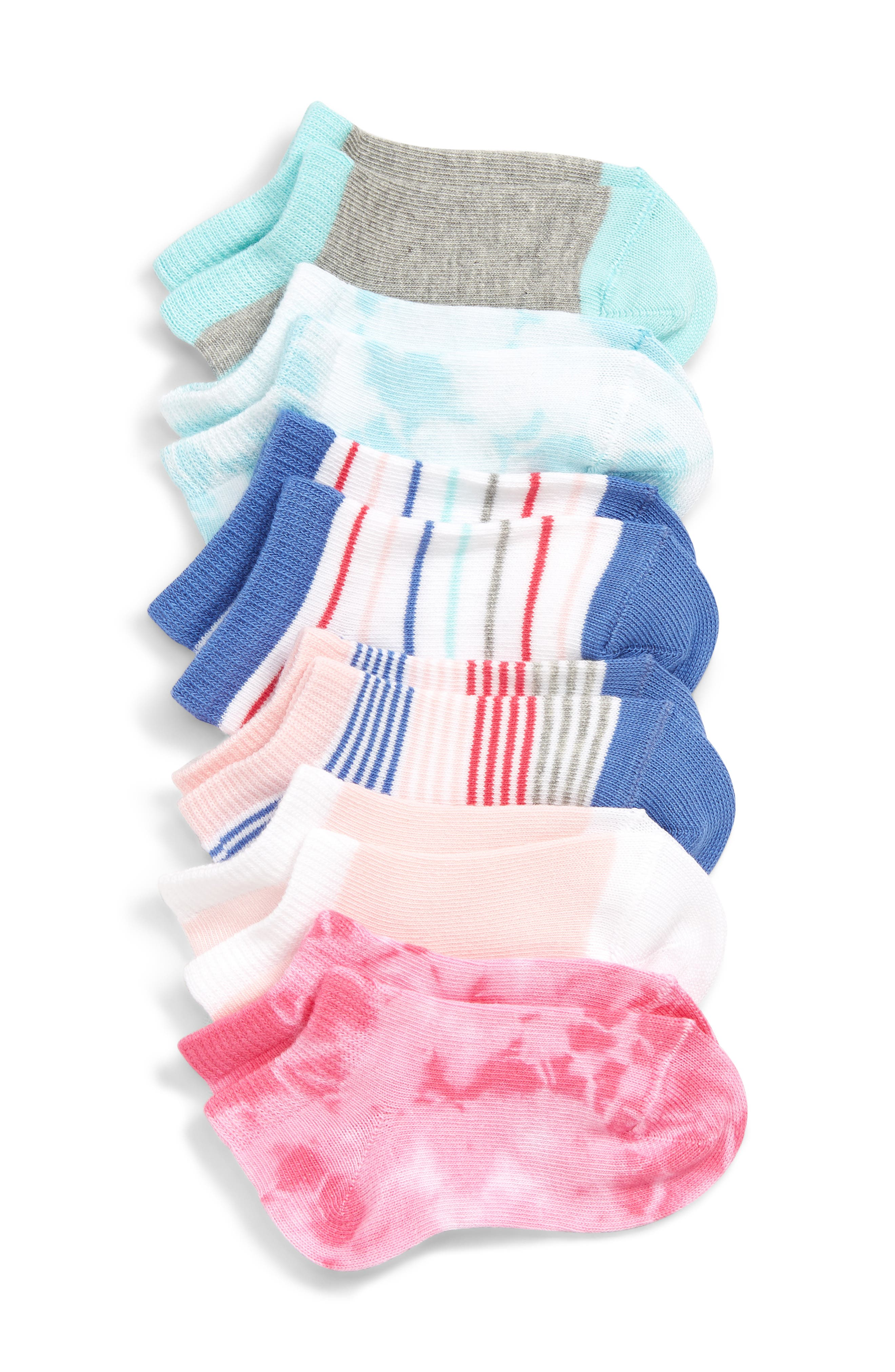 Toddler Girls Tucker  Tate 6Pack Low Cut Socks Size 4585  Pink