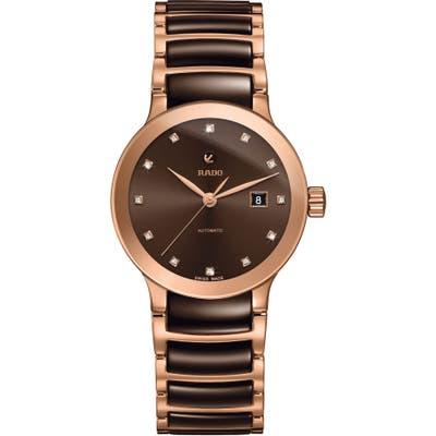 Rado Centrix Automatic Diamond Ceramic Bracelet Watch, 2m