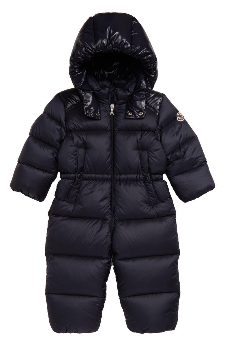 MONCLER Pervance Quilted Down Snowsuit, Main, color, 419