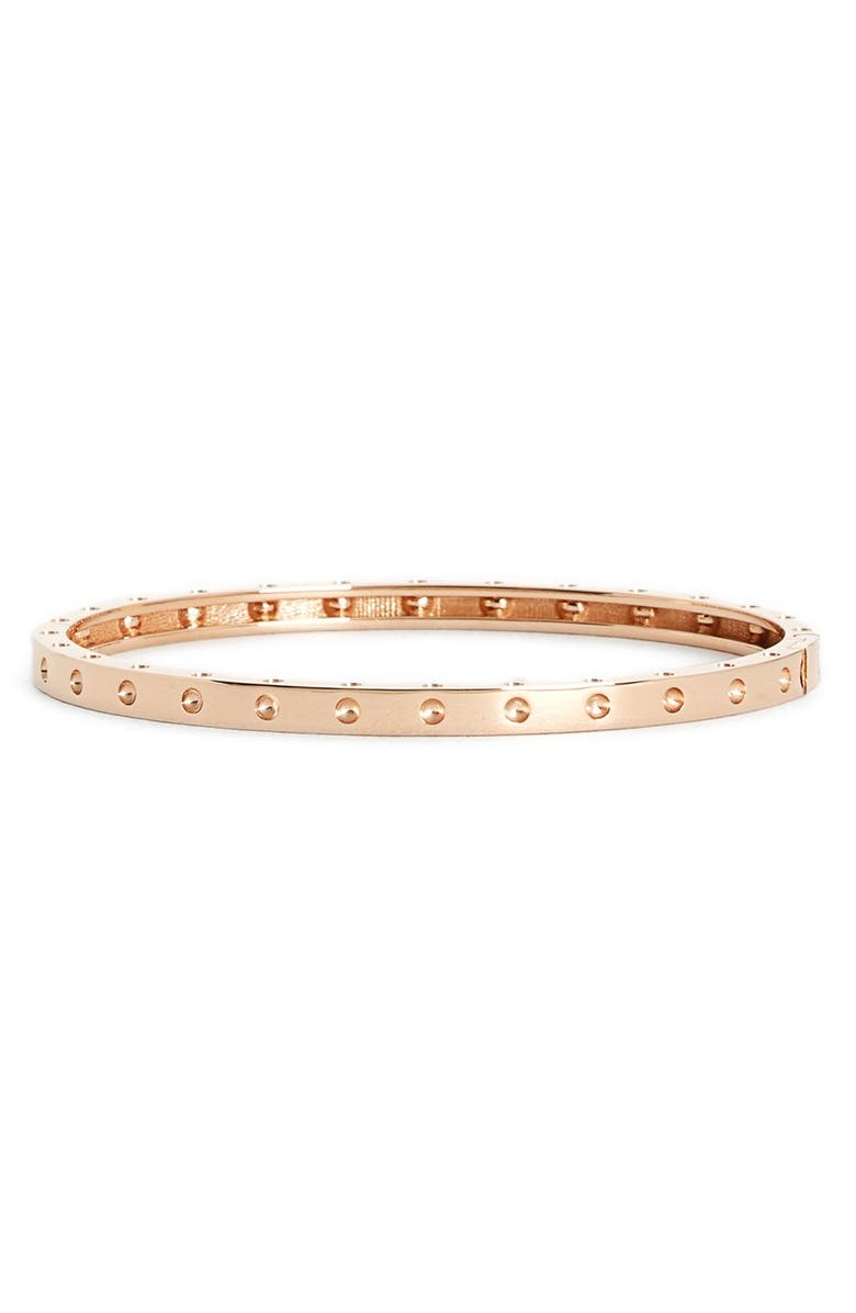 ROBERTO COIN 'Symphony - Pois Moi' Ruby Bangle, Main, color, ROSE GOLD