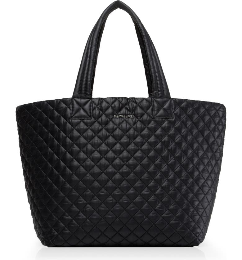 MZ WALLACE Large Metro Tote, Main, color, BLACK/ BLACK