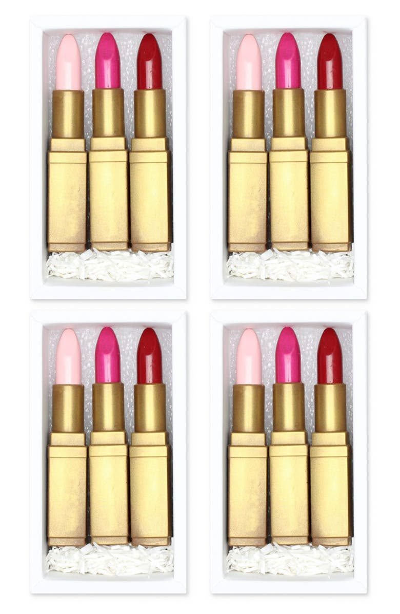 MAGGIE LOUISE CONFECTIONS Lipstick Trio Chocolates, Main, color, 100