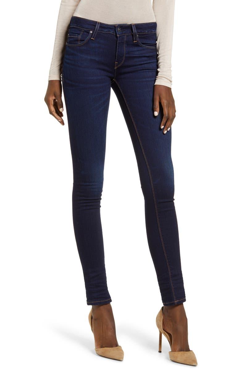 HUDSON JEANS Krista Super Skinny Jeans, Main, color, REQUIEM