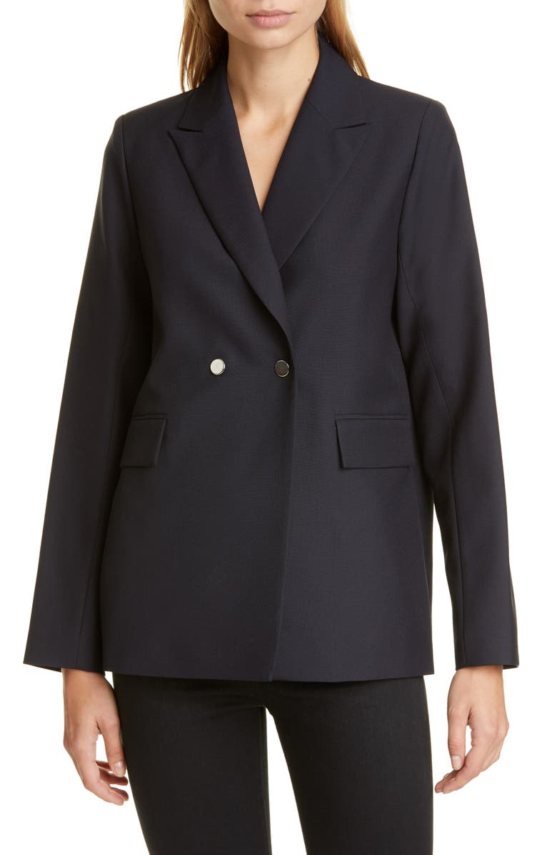 ROSEANNA Double Breasted Blazer, Main, color, MARINE