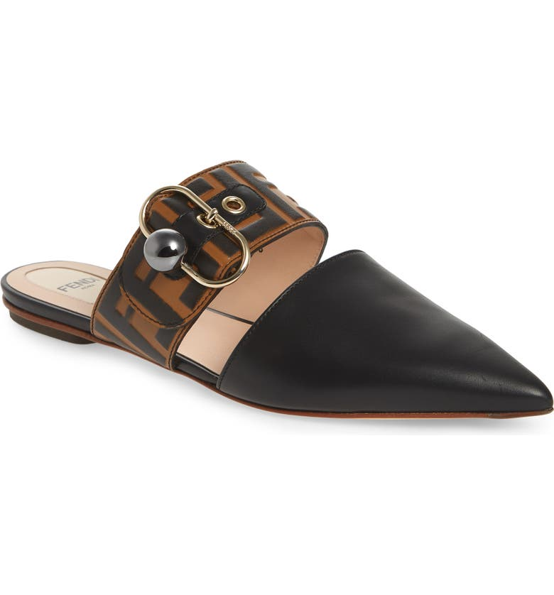 FENDI Pearland Pointy Toe Mule, Main, color, 006