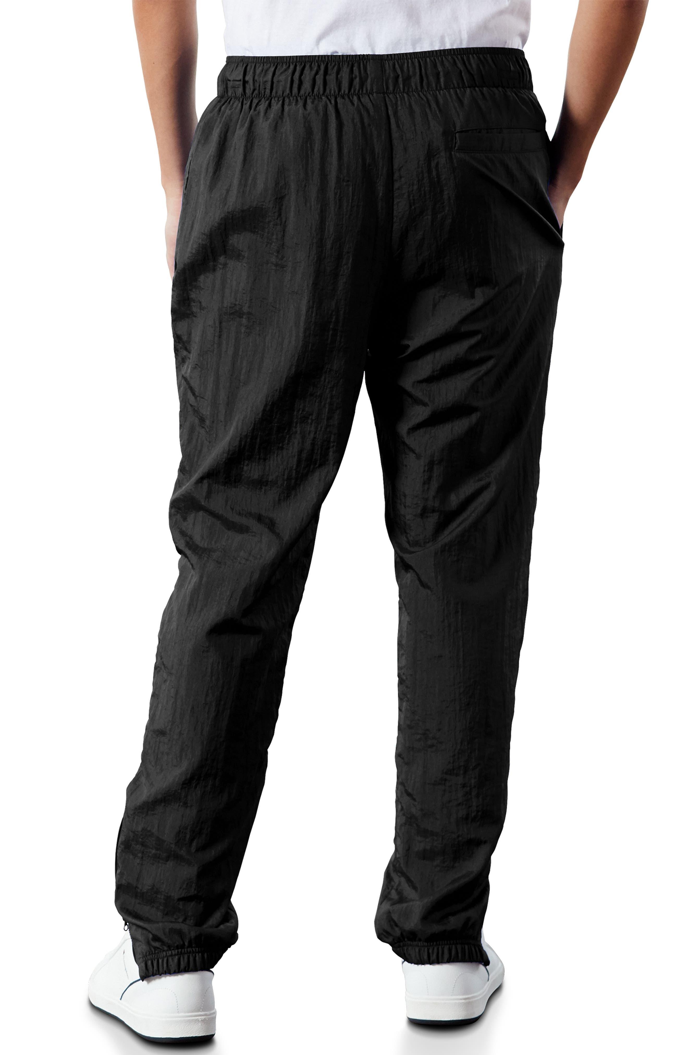 ,                             Nylon Warm-Up Pants,                             Alternate thumbnail 2, color,                             BLACK/ SILVER/ WHITE