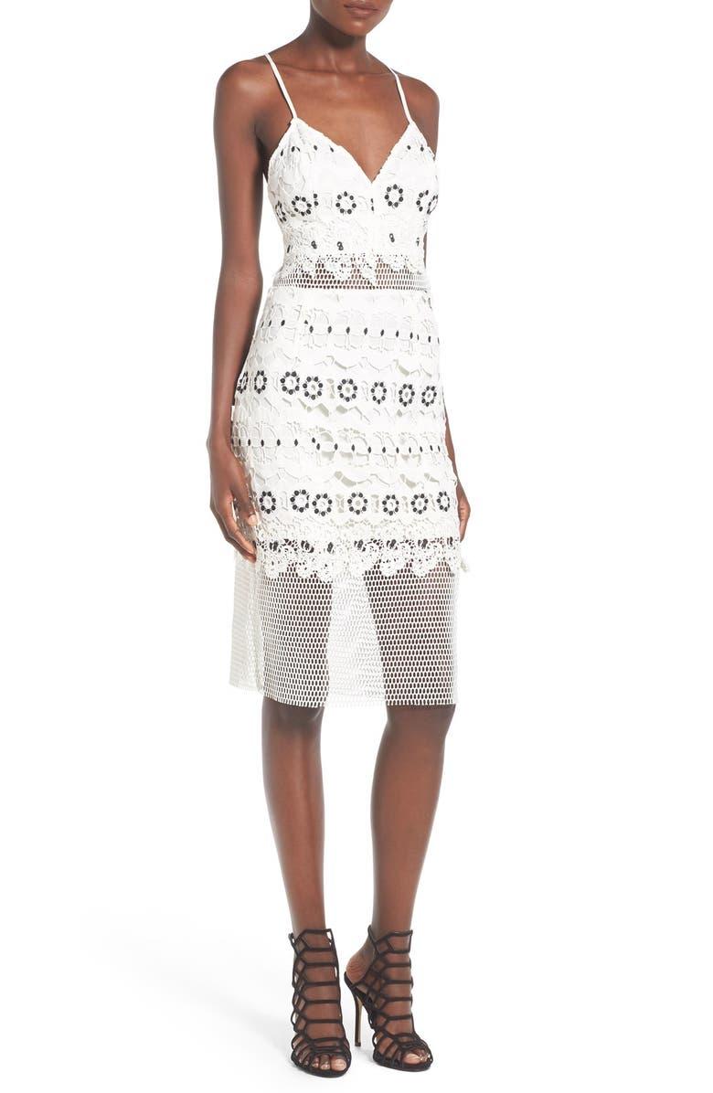 LOVERS + FRIENDS 'Reign' Lace Illusion Dress, Main, color, 900