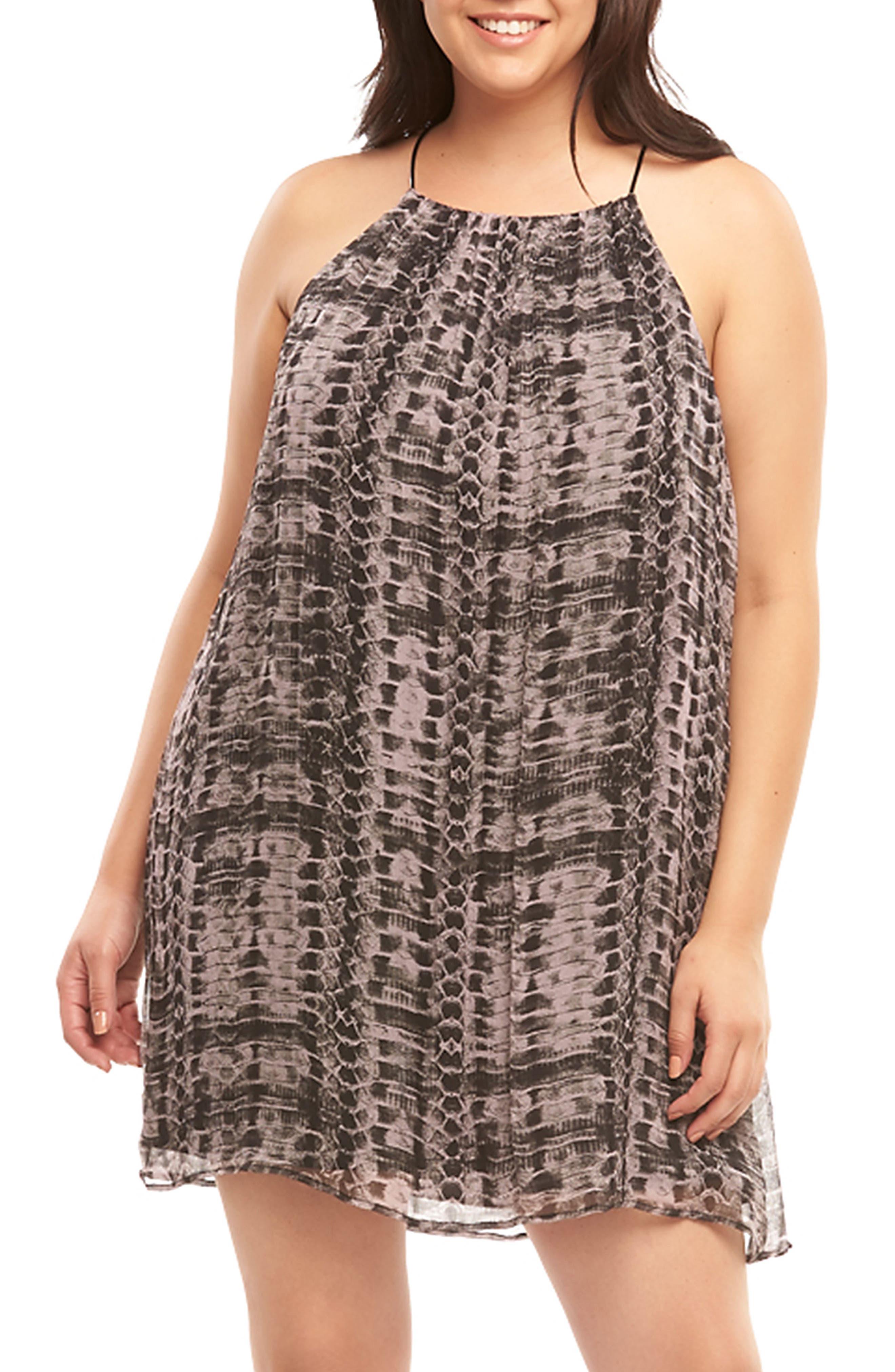 Plus Size Tart Ellie Sleeveless Shift Dress, Purple
