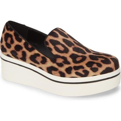 Stella Mccartney Binx Logo Platform Slip-On Sneaker, Brown
