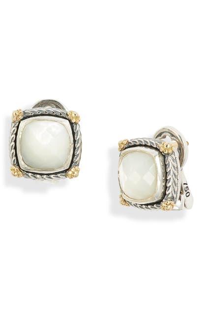 Konstantino Delos Mother-of-pearl Stud Earrings In Mother Of Pearl