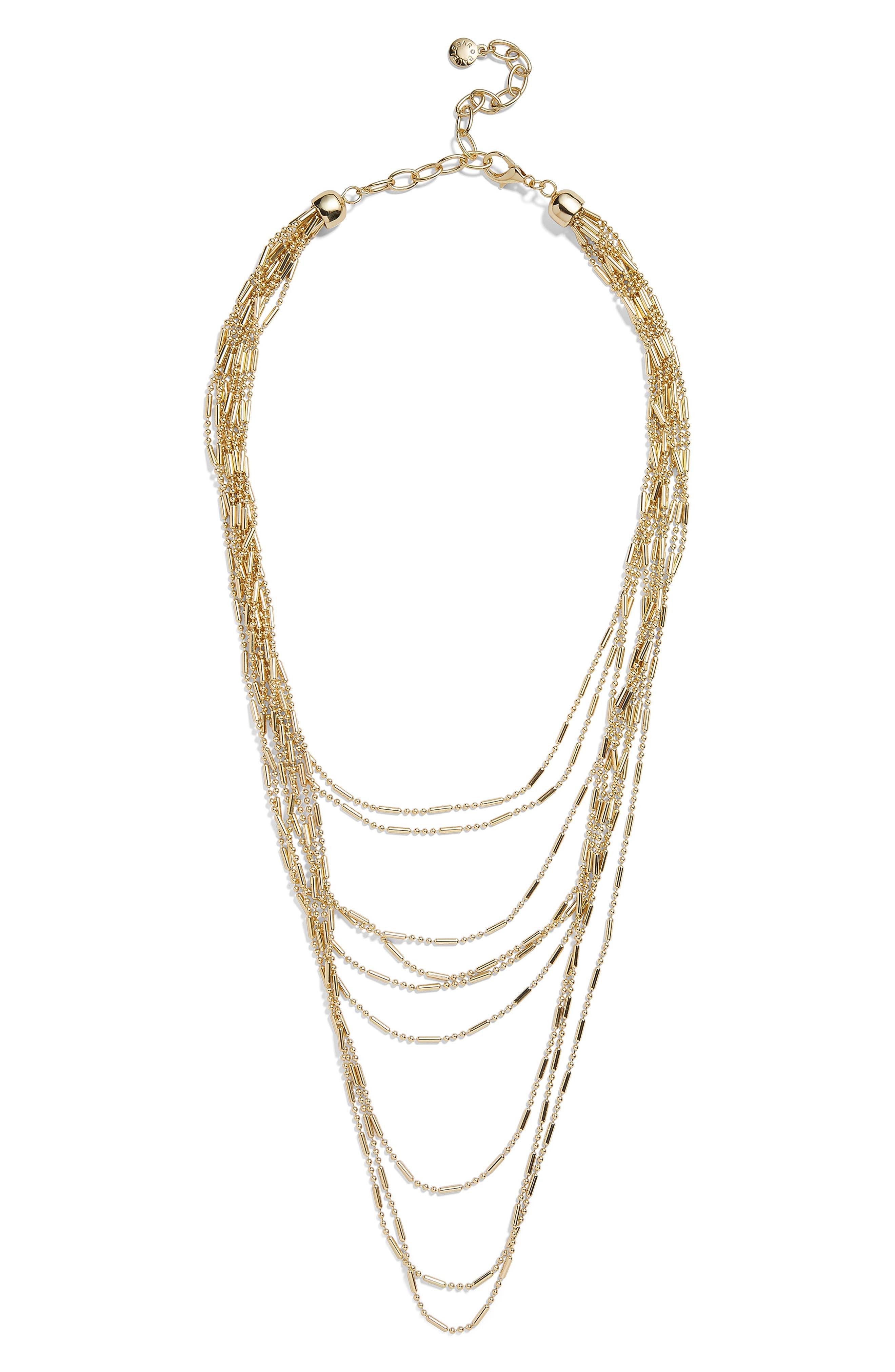 Alizandra Layered Necklace, Main, color, GOLD