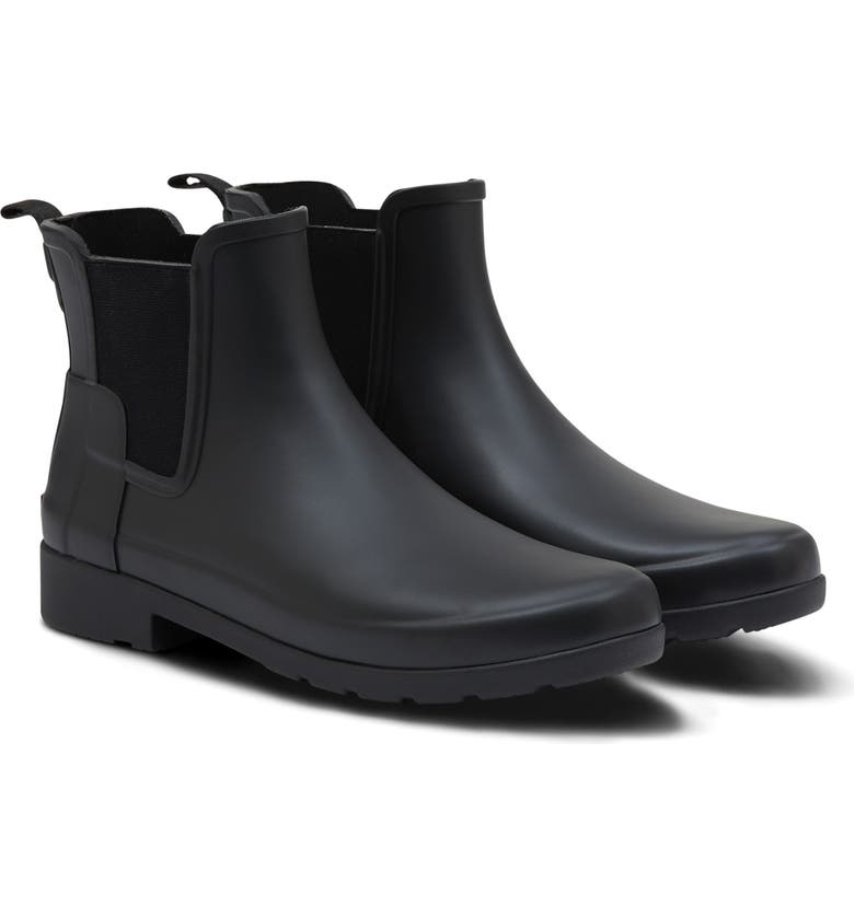 HUNTER Refined Chelsea Boot, Main, color, BLACK
