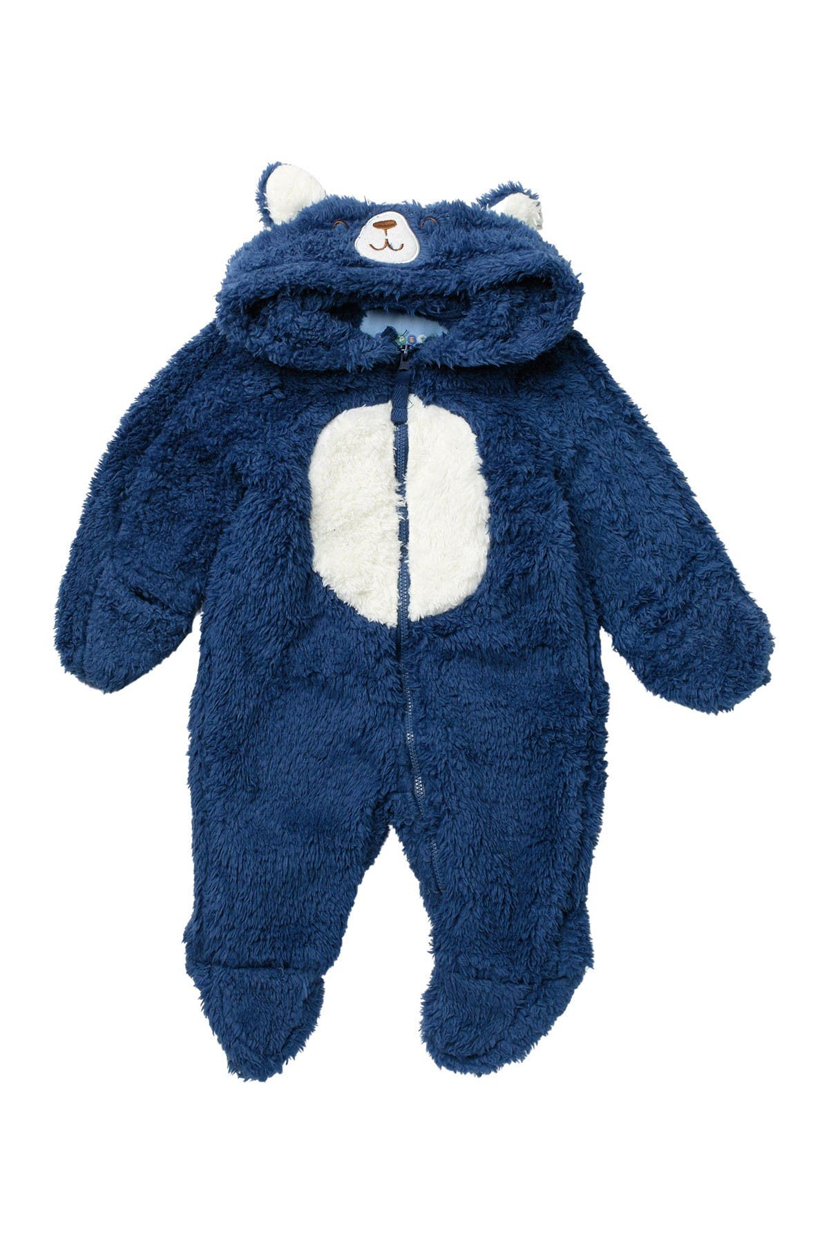 Image of Wippette Soft Faux Shearling Bear Hooded Jumpsuit