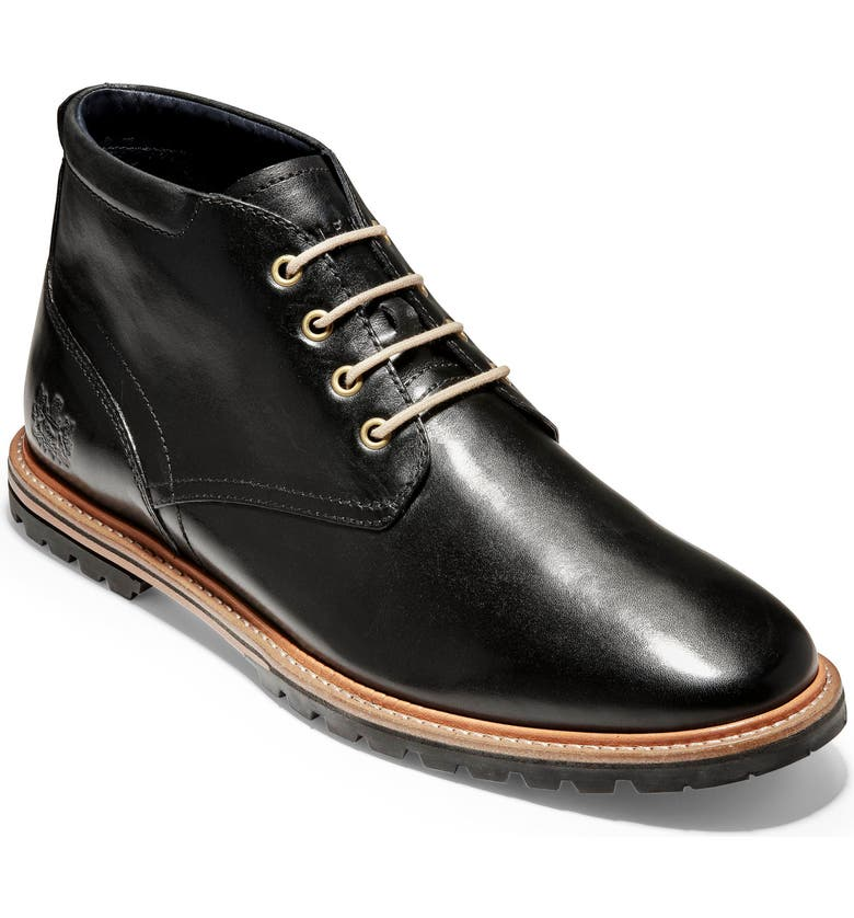 COLE HAAN Raymond Grand Water Resistant Chukka Boot, Main, color, BLACK LEATHER