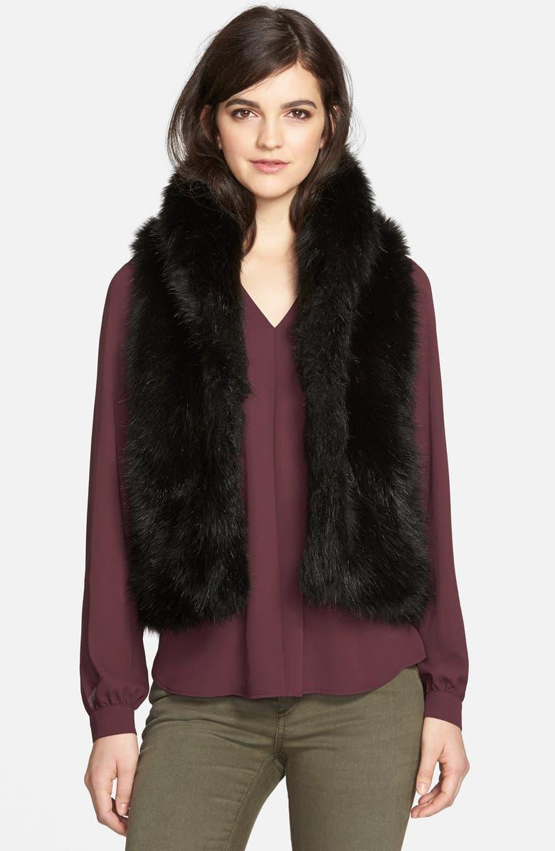 SAM EDELMAN Faux Fur Vest, Main, color, 001