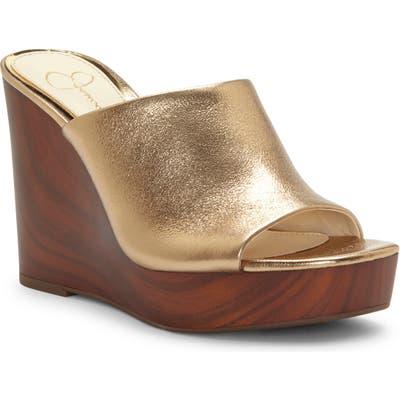 Jessica Simpson Shantelle Wedge Slide Sandal- Metallic