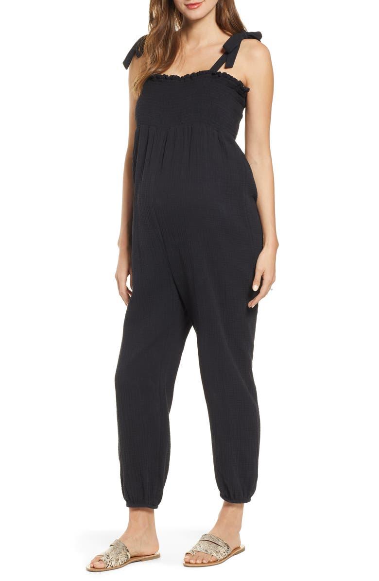 HATCH Jojo Jumpsuit, Main, color, BLACK