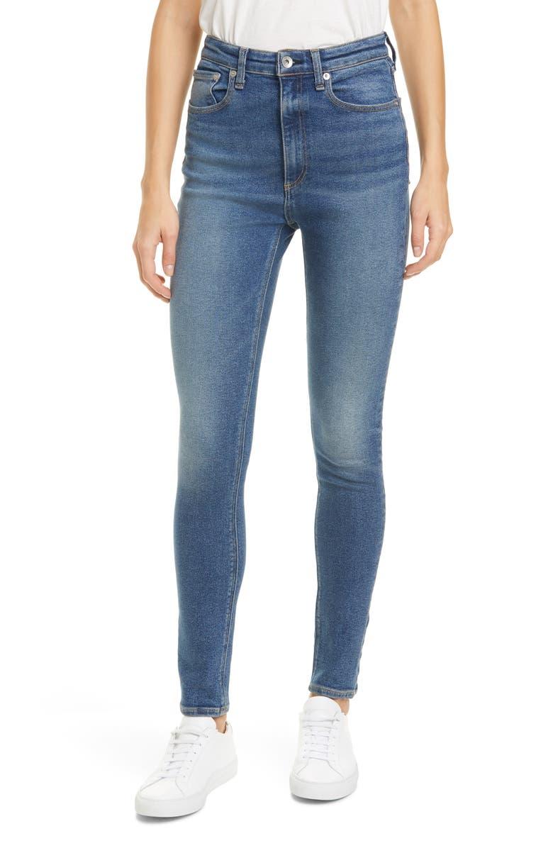 RAG & BONE Jane Super High Rise Skinny Jeans, Main, color, GLADE
