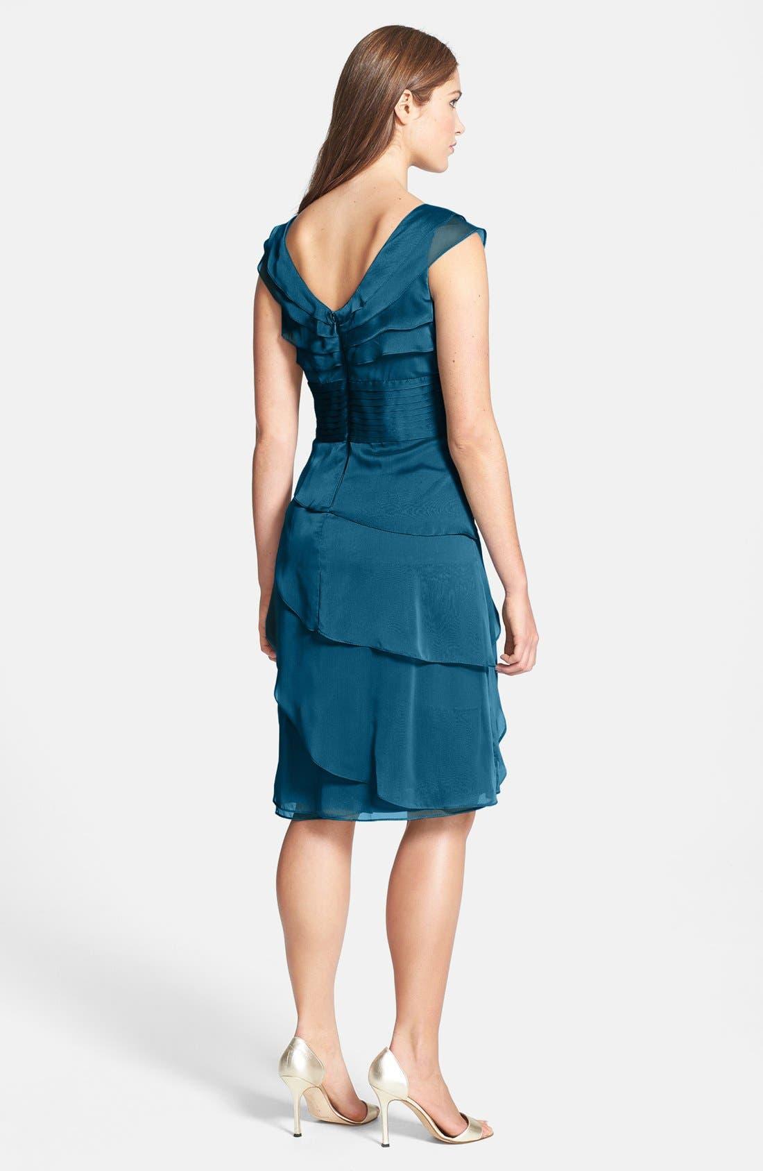,                             Tiered Chiffon Dress,                             Alternate thumbnail 7, color,                             400