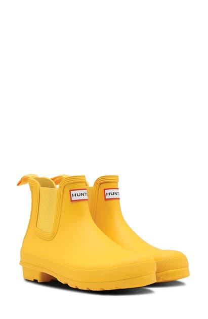 Hunter Original Waterproof Chelsea Rain Boot In Yellow