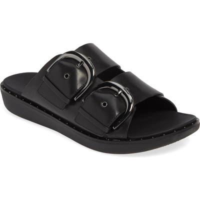 Fitflop Buckleup Slide Sandal, Black (Nordstrom Exclusive)