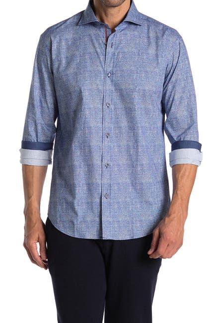 Image of Bugatchi Plaid Shaped Fit Shirt