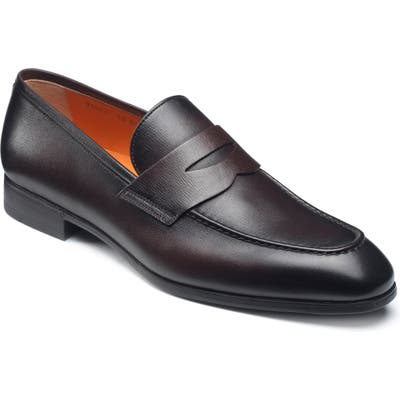 Santoni Gavin Penny Loafer - Brown
