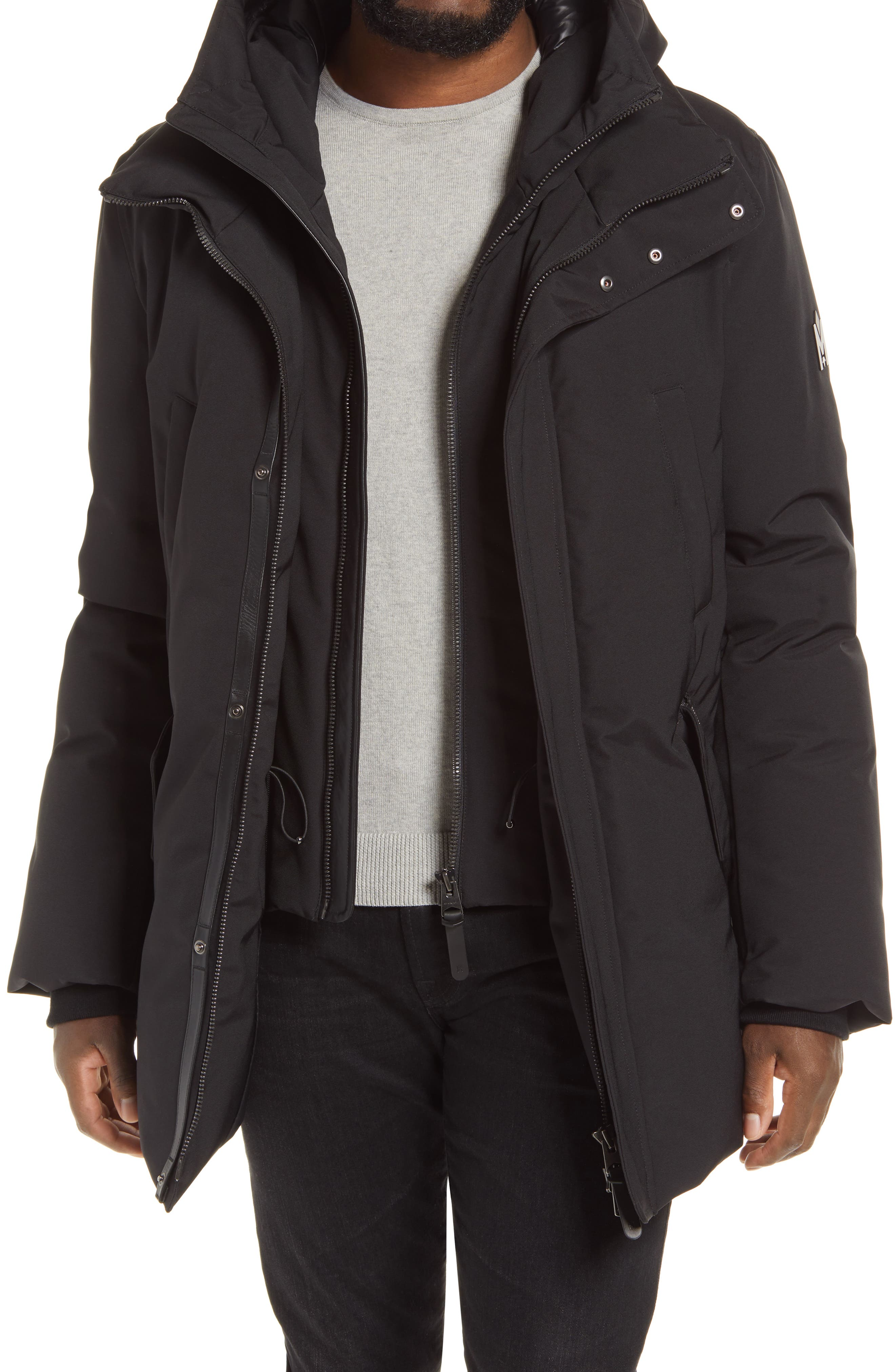 Edward Water Repellent Down Parka With Removable Bib