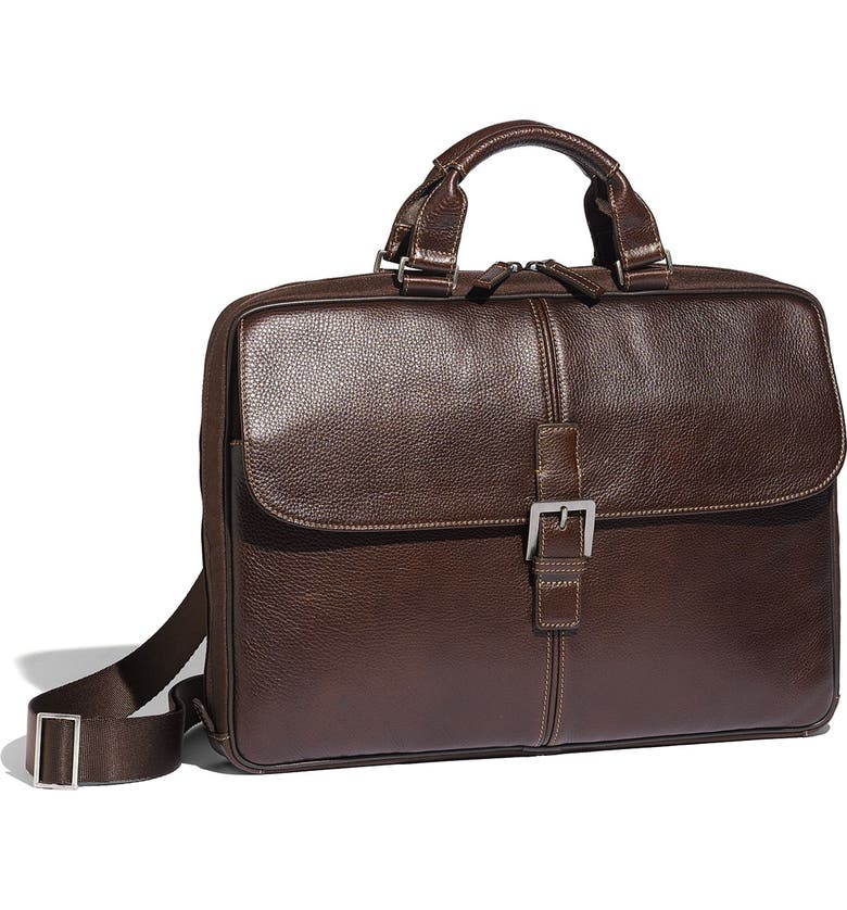 BOCONI 'Tyler' Tumbled Leather Portfolio Briefcase, Main, color, 205