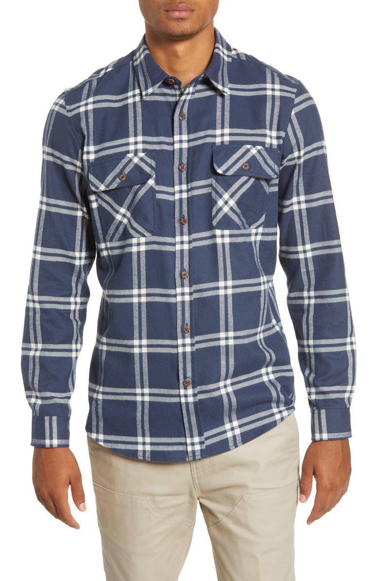 HURLEY Dri-FIT Salinger Plaid Button-Up Performance Flannel Shirt, Main, color, 001