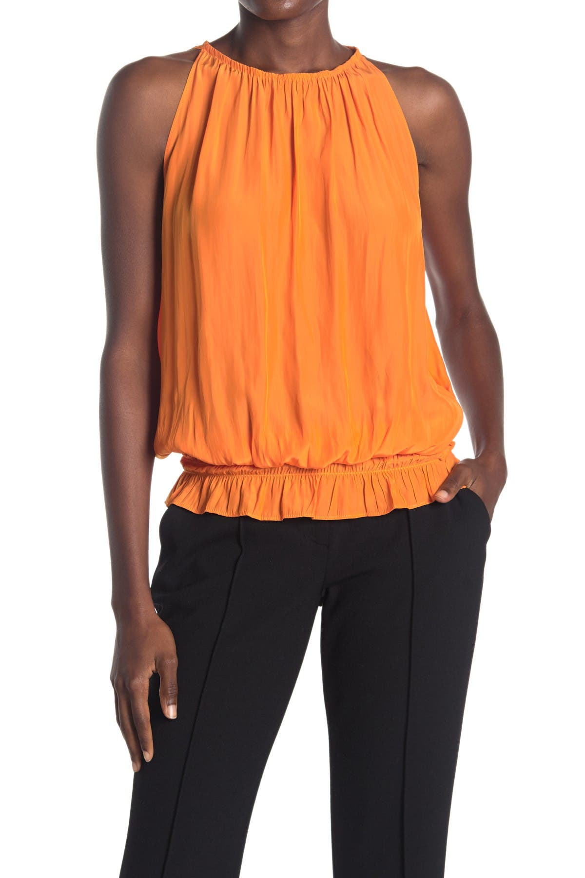 Ramy Brook Womens Sleevless Lauren Top with Elastic Waist