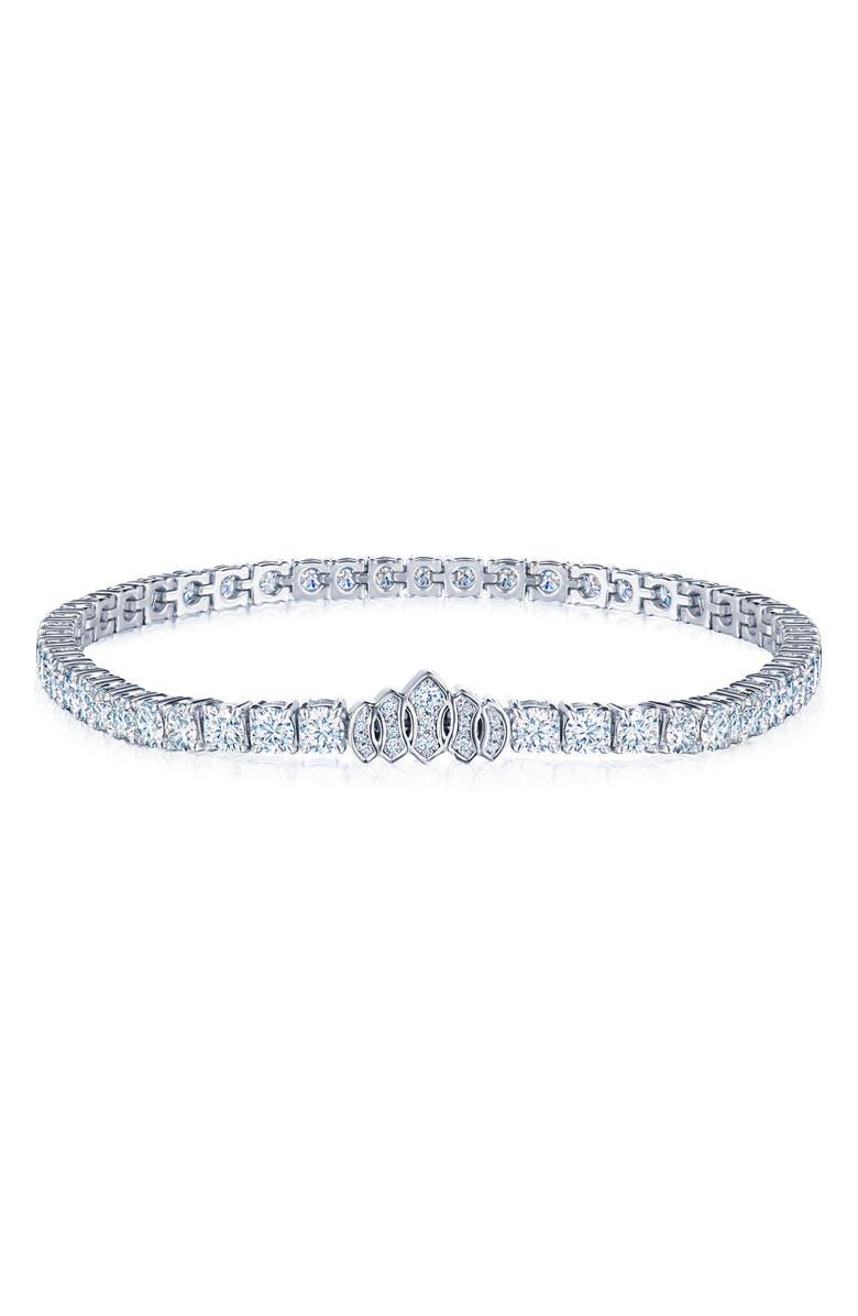 KWIAT Riviera Diamond Bracelet, Main, color, WHITE GOLD