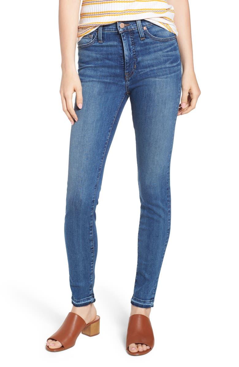 CASLON<SUP>®</SUP> Sierra High Waist Release Hem Skinny Jeans, Main, color, 420