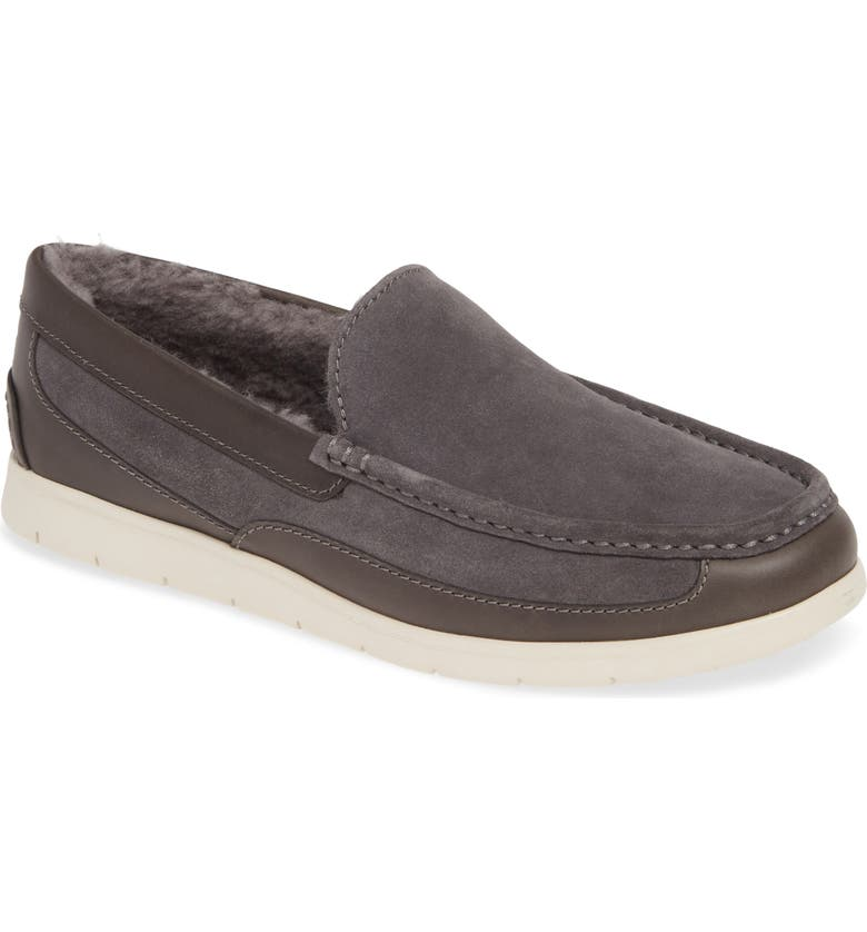 UGG<SUP>®</SUP> Fascot Indoor/Outdoor Slipper, Main, color, CHARCOAL