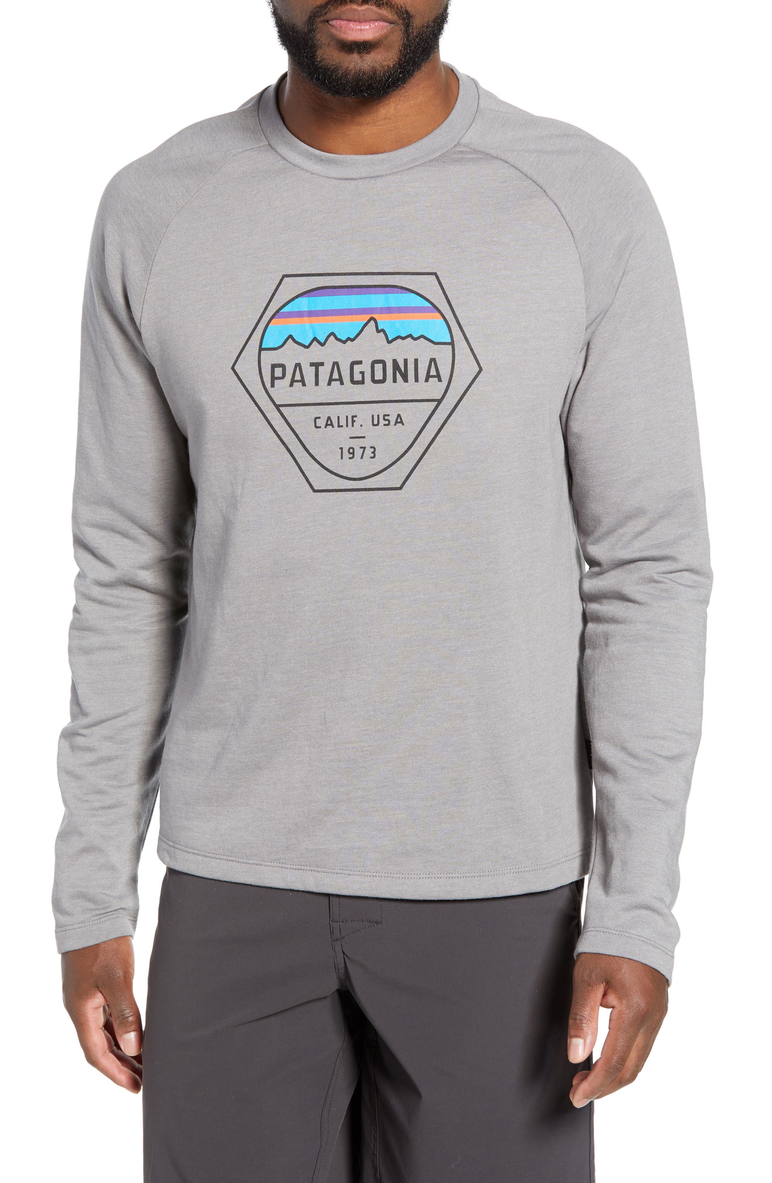 Fitz Roy Hex Logo Sweatshirt, Main, color, FEATHER GREY
