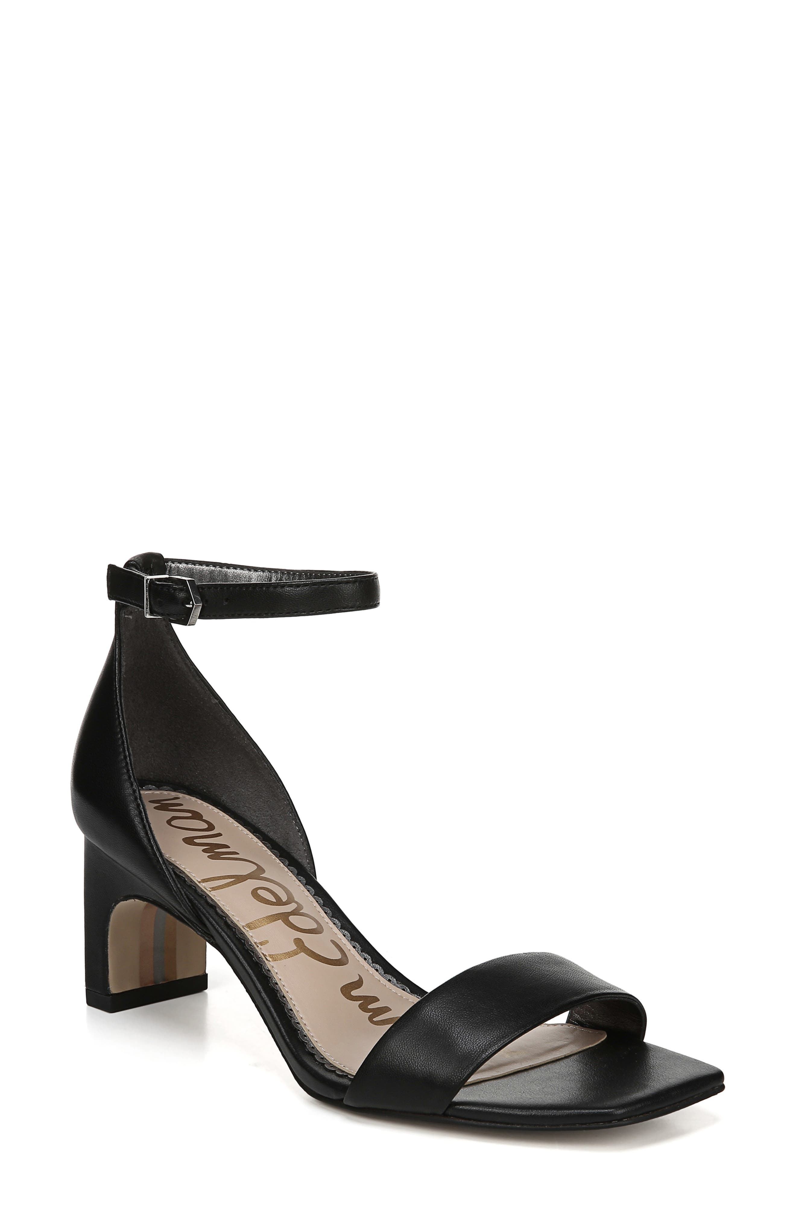 Holmes Ankle Strap Sandal, Main, color, BLACK NAPPA LEATHER