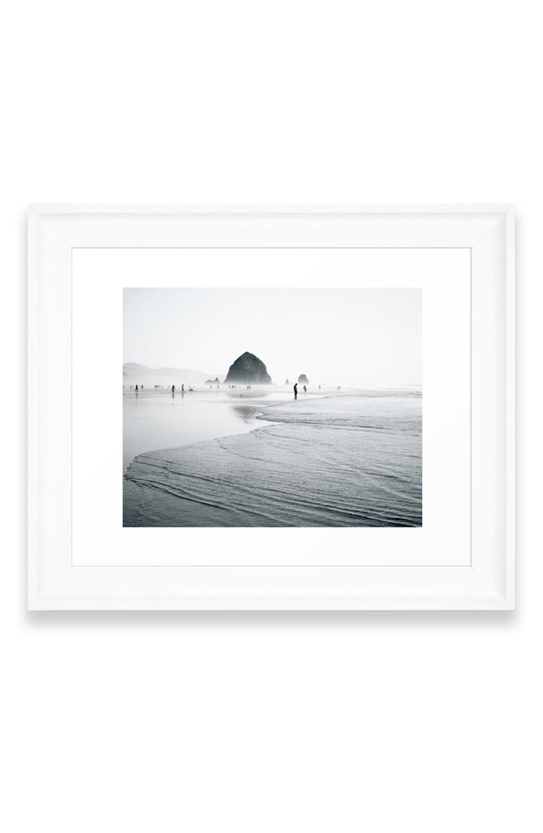 DENY DESIGNS Cannon Beach Art Print, Main, color, WHITE FRAME- 8X10