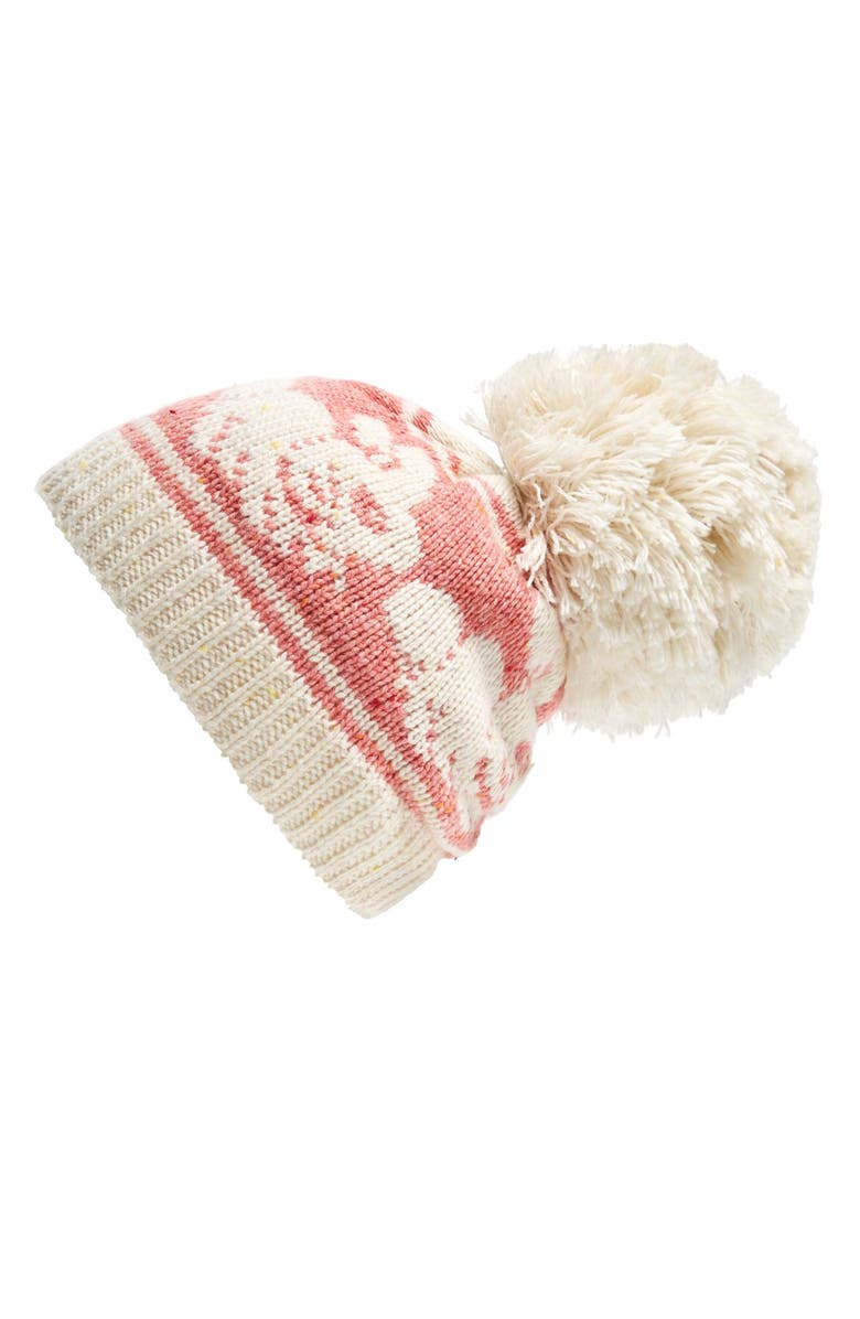 WILDFOX 'Bunny Jump' Pompom Beanie, Main, color, 900