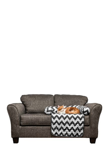 Image of Duck River Textile Black Fubba Reversible Pet Bed & Chair Cover