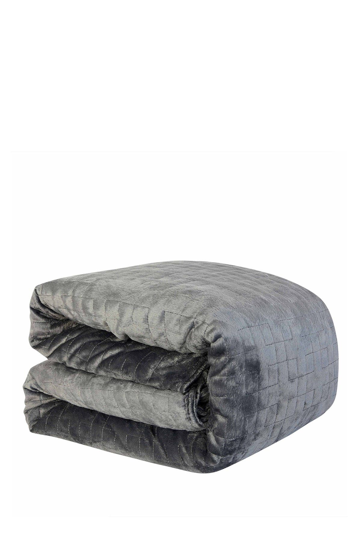Image of DREAM THEORY Microfiber 15lb. Weighted Blanket & Duvet Cover - Grey