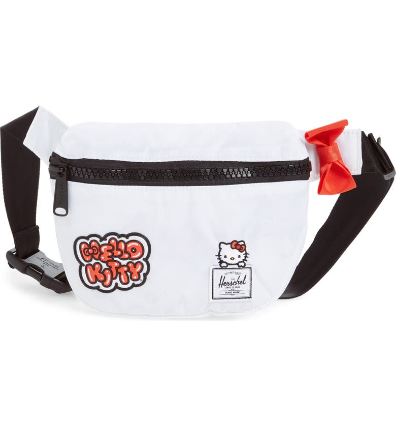 HERSCHEL SUPPLY CO. Hello Kitty Fifteen Belt Bag, Main, color, WHITE