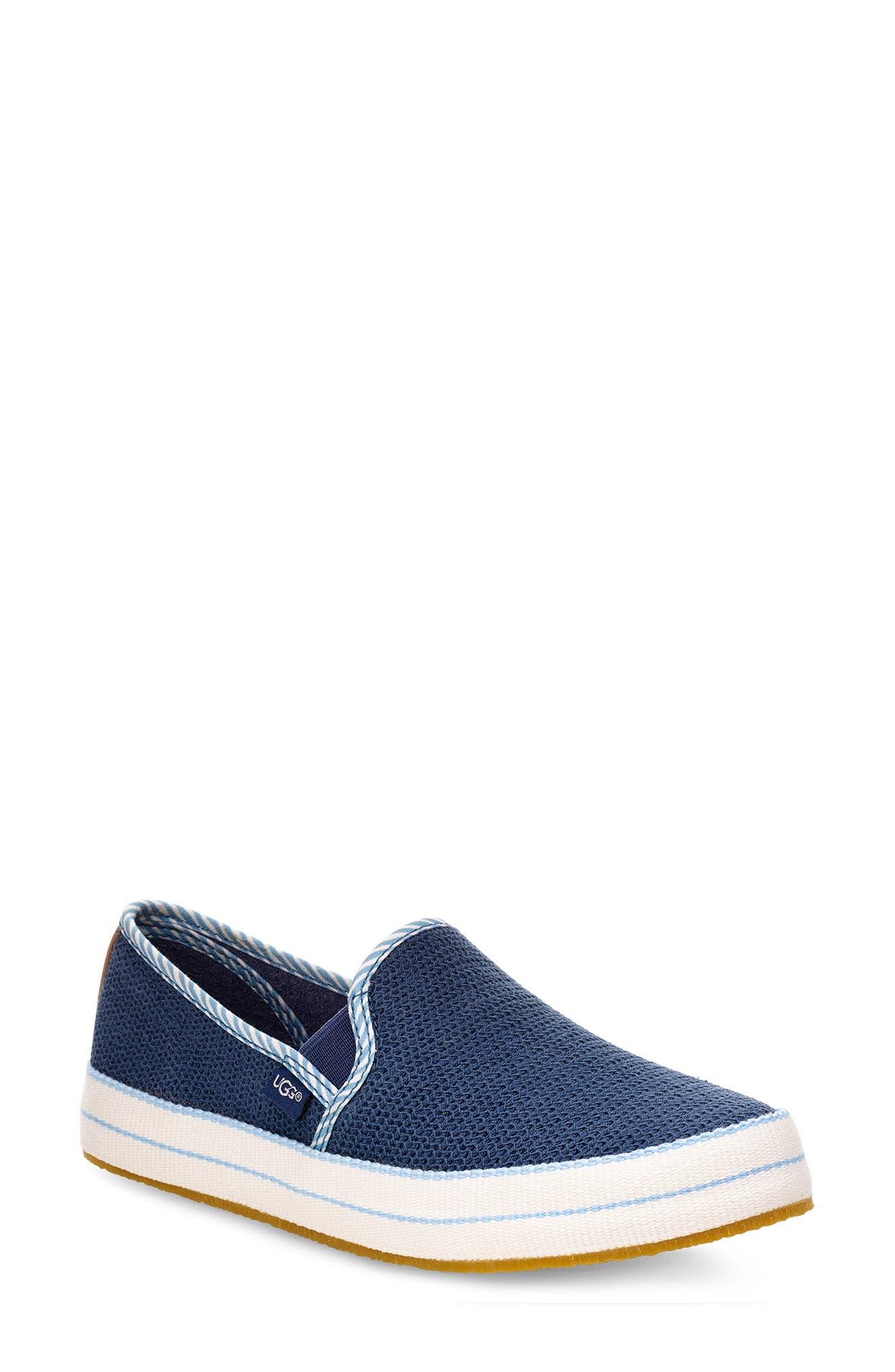 Ugg Bren Waves Slip-On Sneaker, Blue