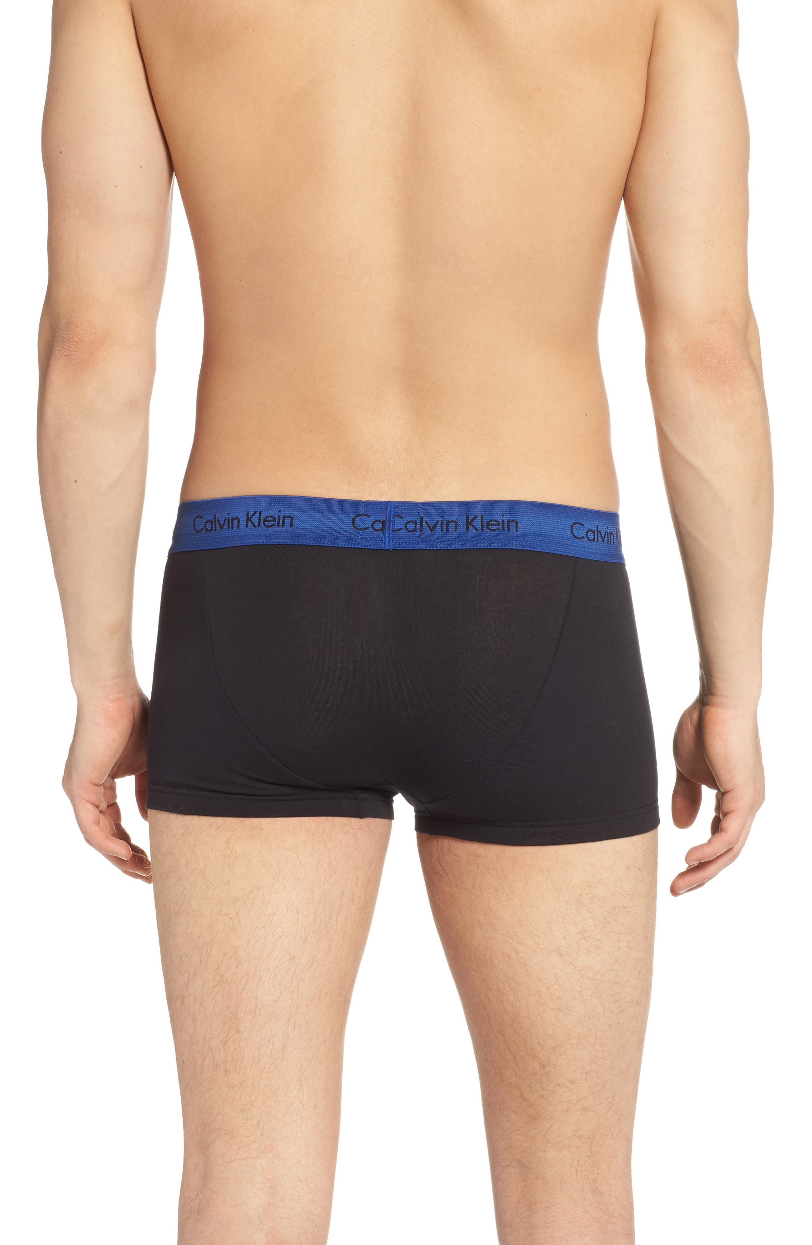 ,                             3-Pack Stretch Cotton Low Rise Trunks,                             Alternate thumbnail 187, color,                             007