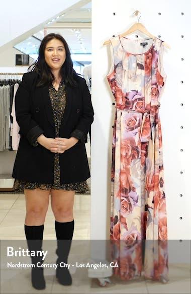 Floral Chiffon Sleeveless Maxi Dress, sales video thumbnail