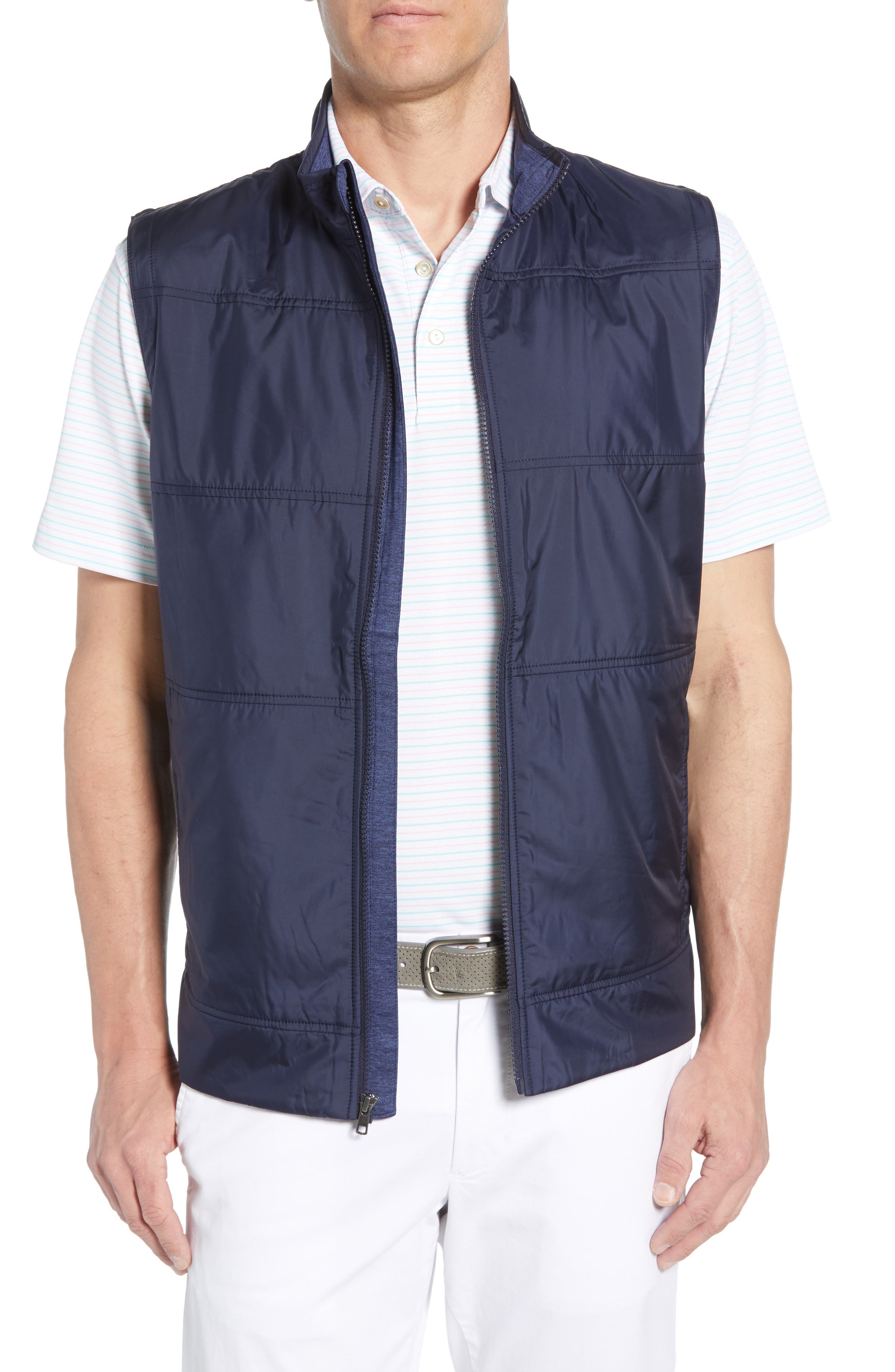Big & Tall Cutter & Buck Stealth Quilted Vest - Blue