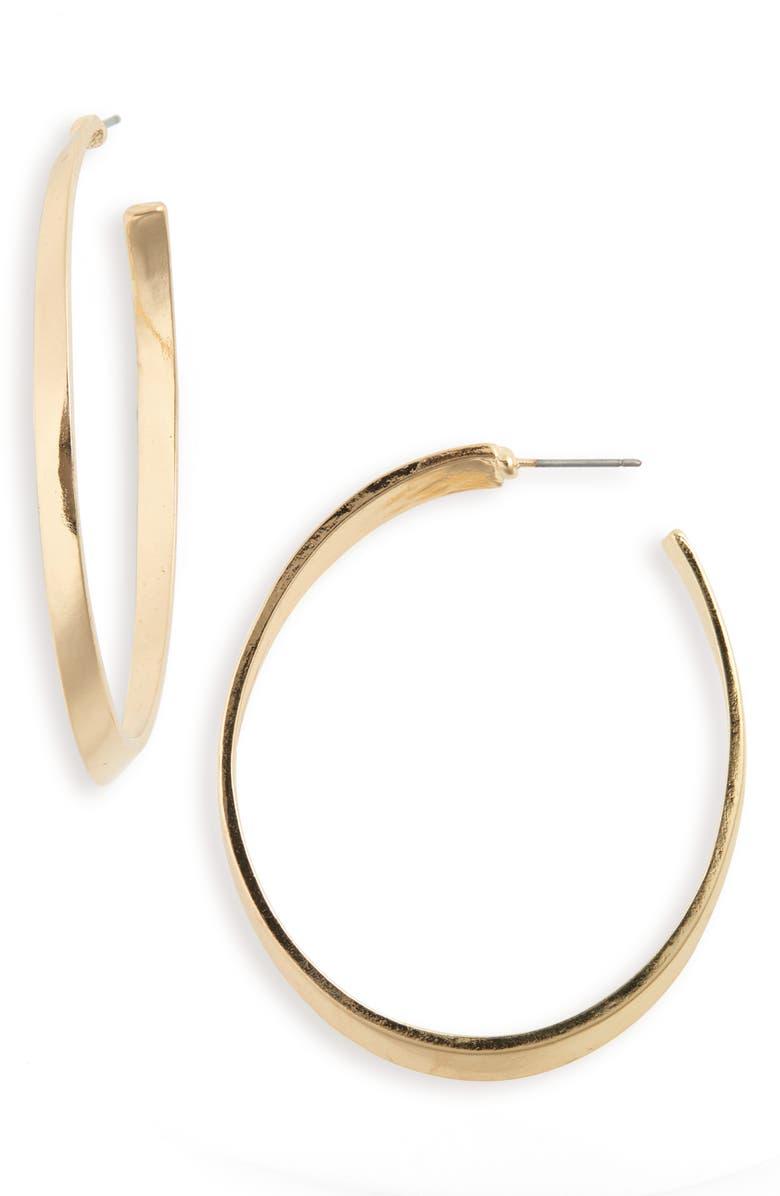 BP. Oval Hoop Earrings, Main, color, GOLD